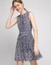 A-Line Dress With Asymmetric Layered Hem