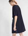 Sleeved Shift Dress With Drawstring Detail