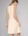 Belted Dress With Mesh-Trimmed Hem