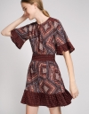 Printed Dress With Elasticated Waist