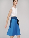 Geometric Color Block Skirt