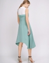 Color Block A-Line Midi Dress