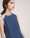 Shift Dress With Contrast V-Neck Back