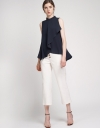 Sleeveless Top With Asymmetric Hem