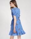 Wrap Floral Printed Dress
