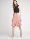 Color Block Lace-Trimmed Dress